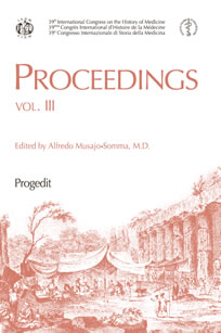Proceedings 39th International Congress on the History of Medicine   vol. III